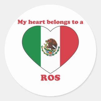 Ros Round Sticker