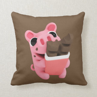 Rosa are a share chocolate cushion