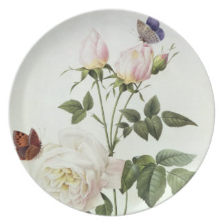 Rosa: Bengale the Hymenes, from 'Les Roses' Dinner Plates