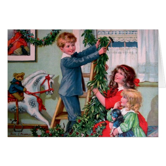 Rosa C. Petherick: Christmas Decorations Card