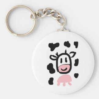Rosa Moo Gifts Basic Round Button Key Ring
