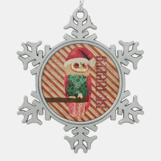 Rosa Owl Be Merry Ornament