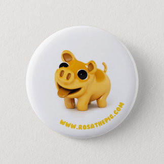 Rosa the Pig APPLIED 6 Cm Round Badge