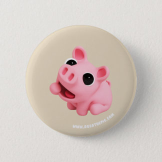 Rosa the Pig are Hungry 6 Cm Round Badge