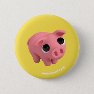 Rosa the Pig are shy 6 Cm Round Badge