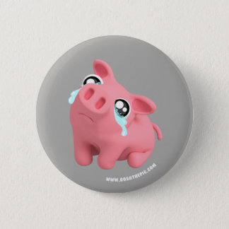 Rosa the Pig crying 6 Cm Round Badge