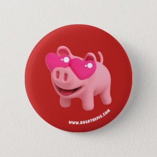 Rosa the Pig Heart Eyes 6 Cm Round Badge