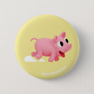 Rosa the Pig keep running 6 Cm Round Badge