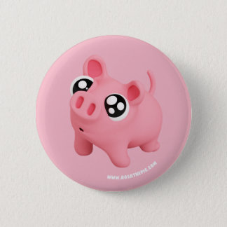 Rosa the Pig puppy Eyes 6 Cm Round Badge