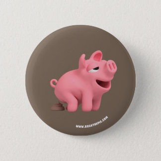 Rosa the Pig takes a Poop 6 Cm Round Badge