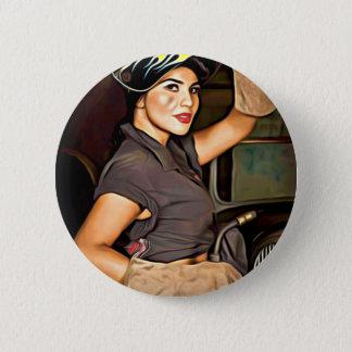 Rosa-the-welder 6 Cm Round Badge