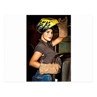 Rosa-the-welder Postcard