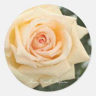 Rosa Vanilla Perfume Classic Round Sticker