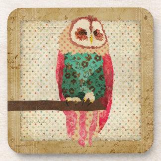 Rosa Vintage Owl Coaster
