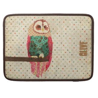 Rosa Vintage Owl Macbook Sleeve Sleeve For MacBooks