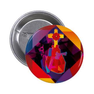 Rosacruz 6 Cm Round Badge