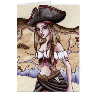 Rosalie - Treasure Map Pirate Card