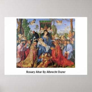 Rosary Altar By Albrecht Durer Poster