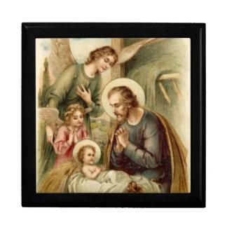 Rosary Box: St. Joseph Nativity Large Square Gift Box