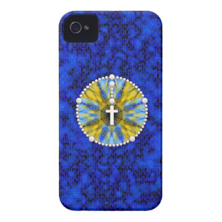 Rosary Dream Catcher Blue and Yellow iPhone 4 Covers