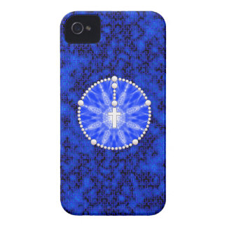 Rosary Dream Catcher Blue iPhone 4 Case-Mate Cases