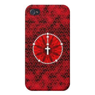 Rosary Dream Catcher Red Cover For iPhone 4