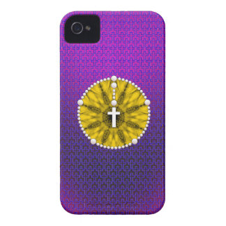 Rosary Dream Catcher Yellow iPhone 4 Cases