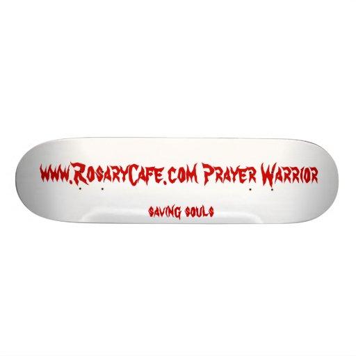 RosaryCafe Prayer Warrior Skateboard