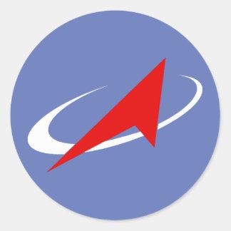 Roscosmos Flight Patch Round Sticker