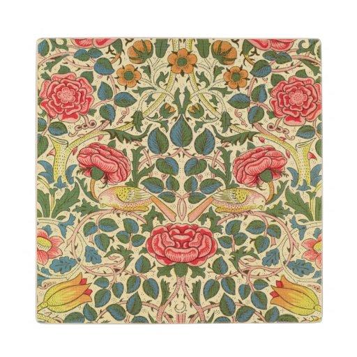'Rose', 1883 (printed cotton) Wood Coaster