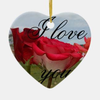 rose 1 ceramic heart decoration