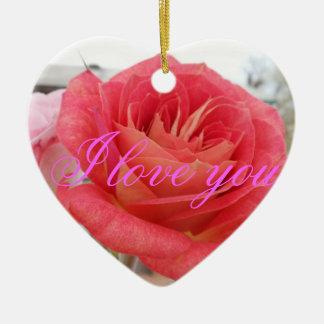 rose 2 ceramic heart decoration