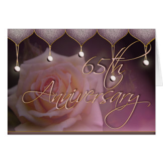 Rose 65th Anniversary Card