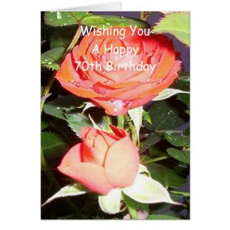 Rose 70th Birthday Card