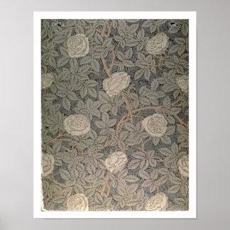 'Rose-90' wallpaper design Print