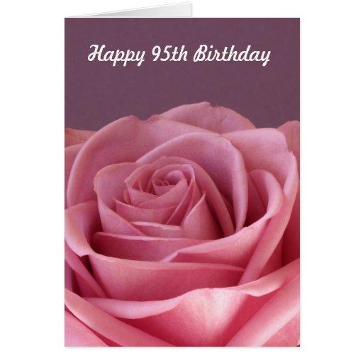Rose 95th Birthday Card