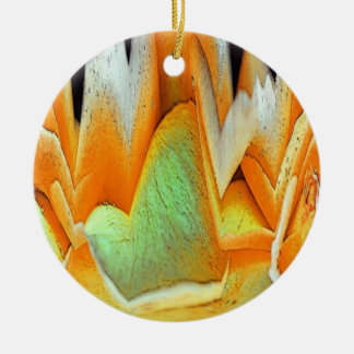Rose Abstract Double-Sided Ceramic Round Christmas Ornament