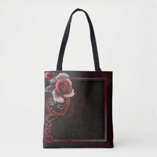 Rose All-Over-Print Tote Bag, Medium
