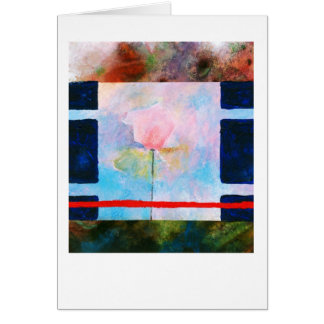 Rose and blue box card