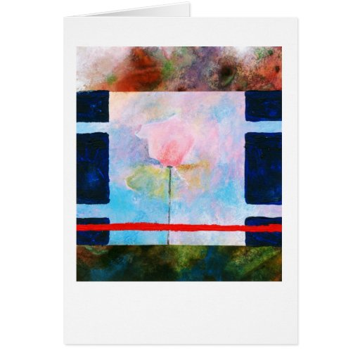 Rose and blue box greeting cards