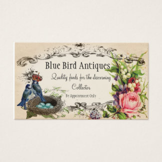 Rose and Blue Jay Buisness or Introduction Card