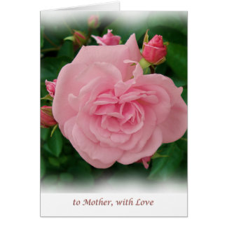 Rose and buds Mother's day card