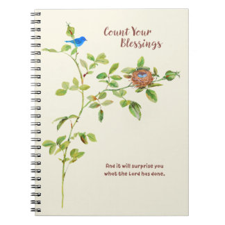 Rose and Bunting Gratitude Notebook