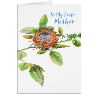 Rose and Bunting Mother's Day Card
