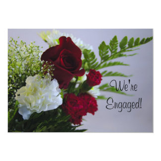 Rose and Carnations-Announcement Card
