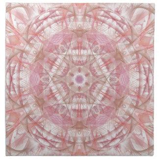 Rose and coral pink mandala napkin