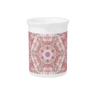 Rose and coral pink mandala pitcher