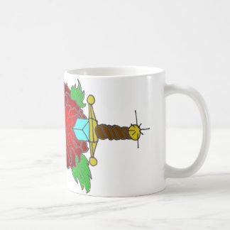 Rose and Dagger Tattoo Design Coffee Mug