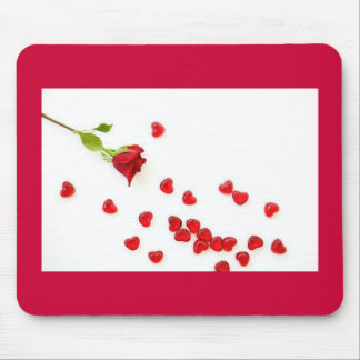 Rose and Hearts Mouse Pad