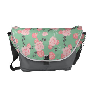 Rose and mint messenger bag